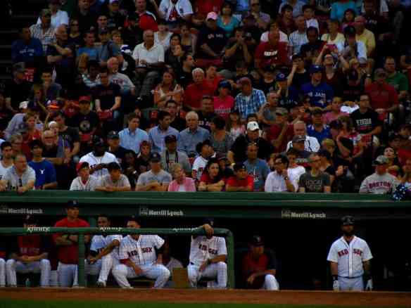 Boston Red Sox Dugout and Players