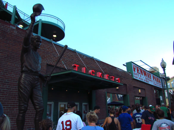 Fenway Entrance and ticket stalls
