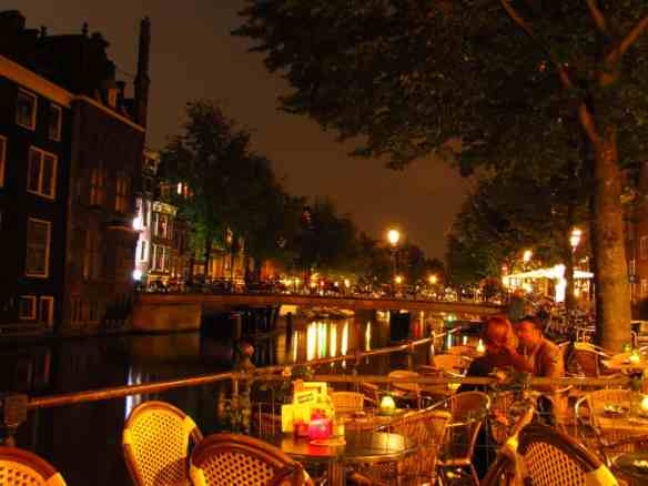 Amsterdam Cafe at Night (De Haven Van Texel)