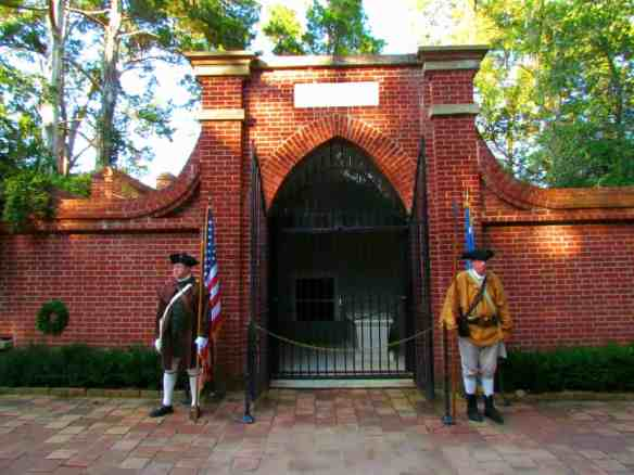 The tomb of President George Washington and his wife, Martha, at Mount Vernon.