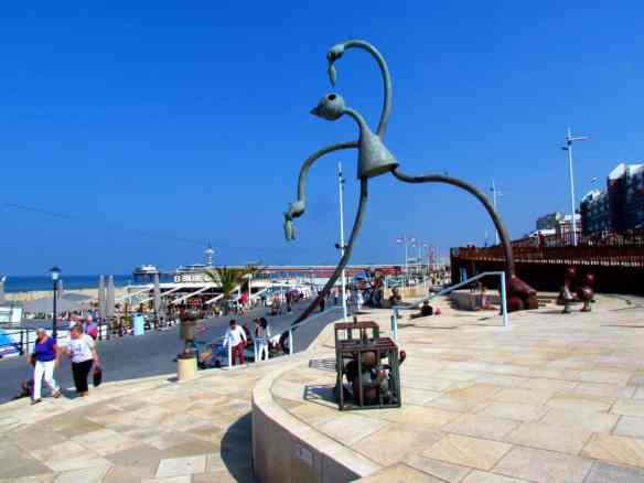 Scheveningen tall beach sculpture