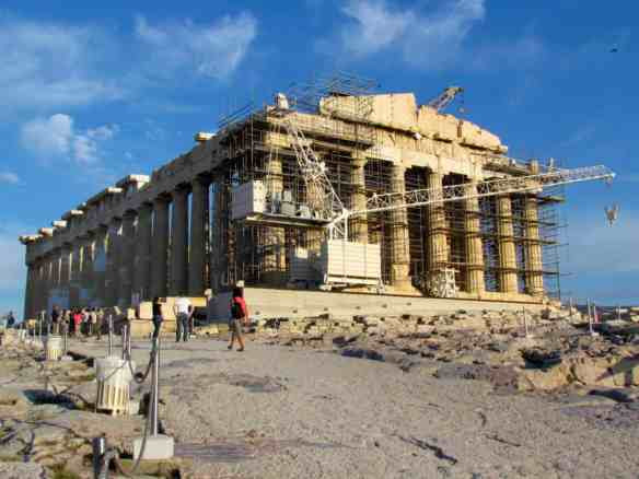 Parthenon from the entrance (Propylaea)