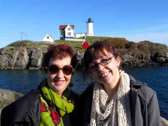 Nubble Lighthouse near York, Maine during Bell's Mum's visit from Australia.