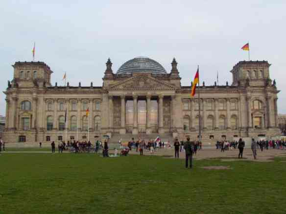 Berlin's Reichstag, home of the Bundestag (German Parliament).