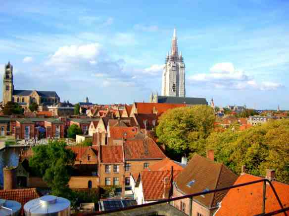 Amazing view of Brugge from the rooftop of De Halve Maan brewery.