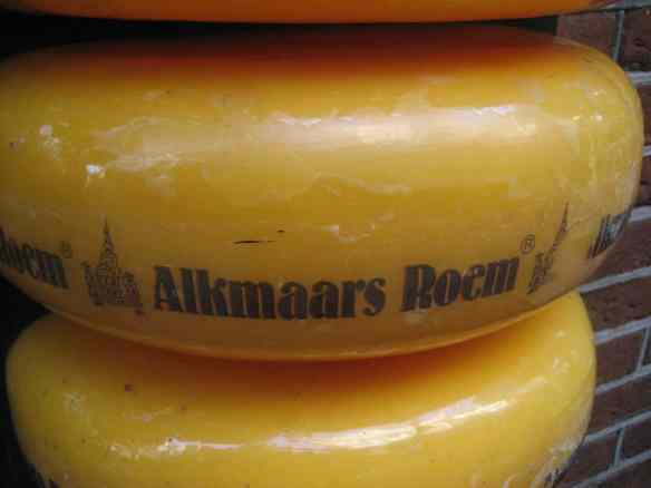 An Alkmaar Cheese wheel. You'll literally see a ton of these if you visit for the Friday cheese market.