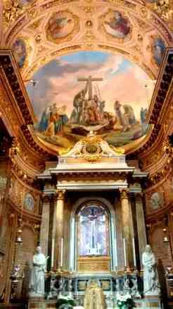 Bergamo Italy Church Alter and Fresco