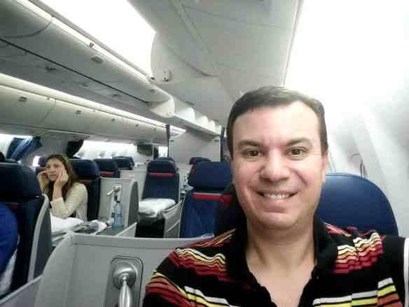 Delta Business Elite Selfie, First Class Airplane