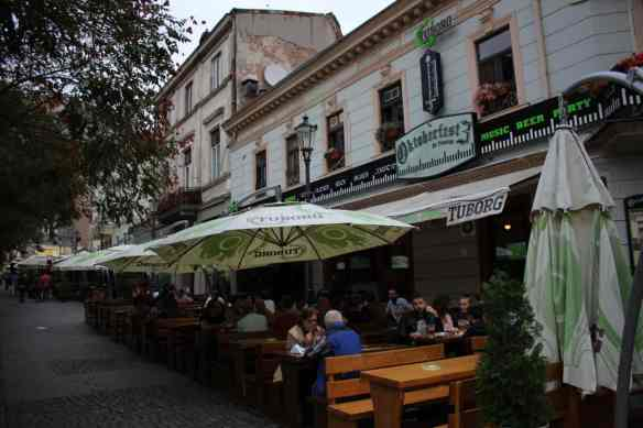 Bucharest, Romania Old Town, Oktoberfest, Beer Hall