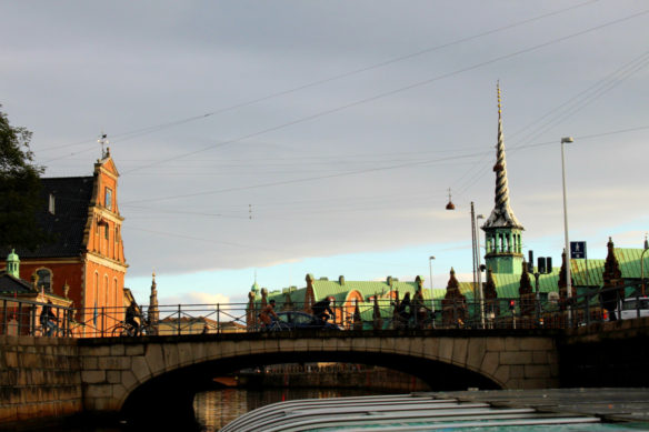 Copenhagen Old Stock Exchange, canal boat cruise