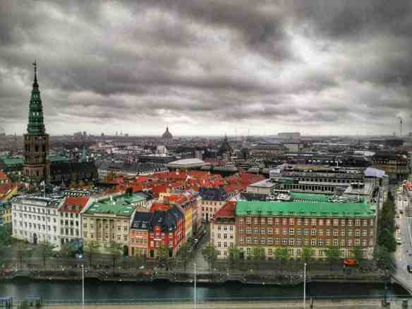 View of Copenhagen from Christiansborg Palace (Danish Parliament)