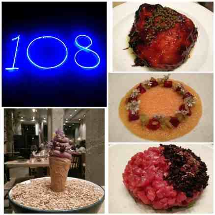 108 Copenhagen, lamb tartar, salmon roe, braised lamb, ice cream