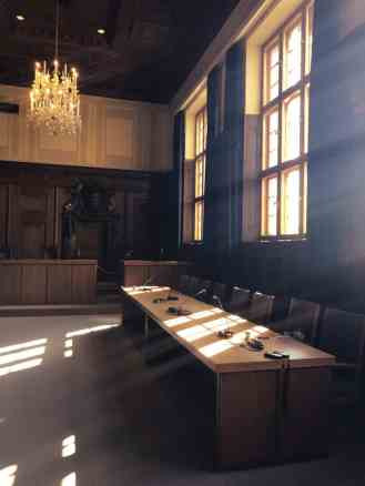 Courtroom of Nuremberg trials
