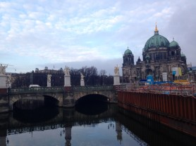 Spree River with the Berliner Dom (cathedral) in the background