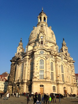 Frauenkirche: This church was destroyed during the bombing of Dresden in WWII and was later rebuilt after the reunification of Germany.