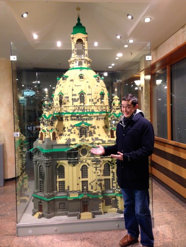 We found a replica of the Frauenkirche made completely of legos on the top floor of Karstadt, a German department store.