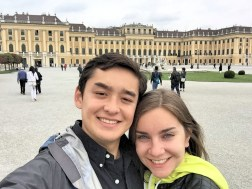 Matt and I in front of Vienna's Schönbrunn Palace, the imperial summer residence for the Habsburg monarchs