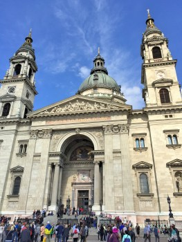 Off to Budapest! The city is divided by the Danube River into Buda and Pest, which did not have it's unification until 1873. Here is the St. Stephen's Basilica on the Pest side.