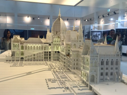 scale model of the parliament building