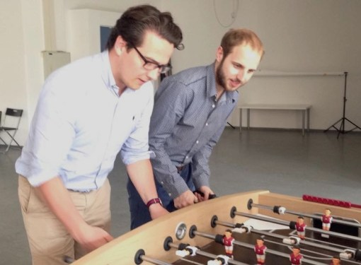 Michael and Elias: I'll miss playing foosball with my team