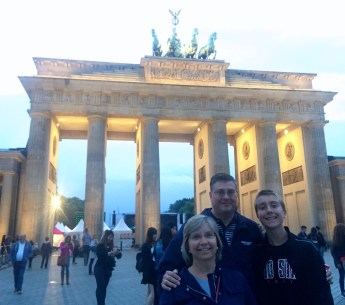 My family in front of the Brandenburg Gate.