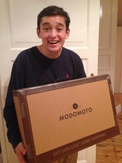 Matt excited to open his MODOMOTO box