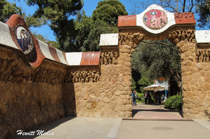 The entrance to Park Guell