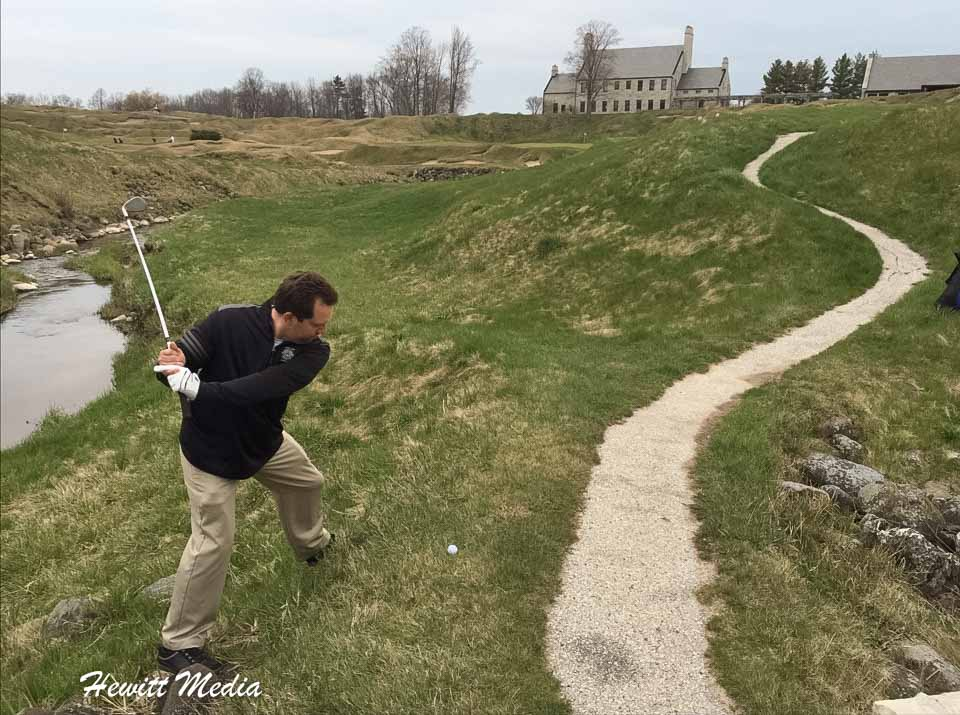 Golfing at Whistling Straits Golf Links