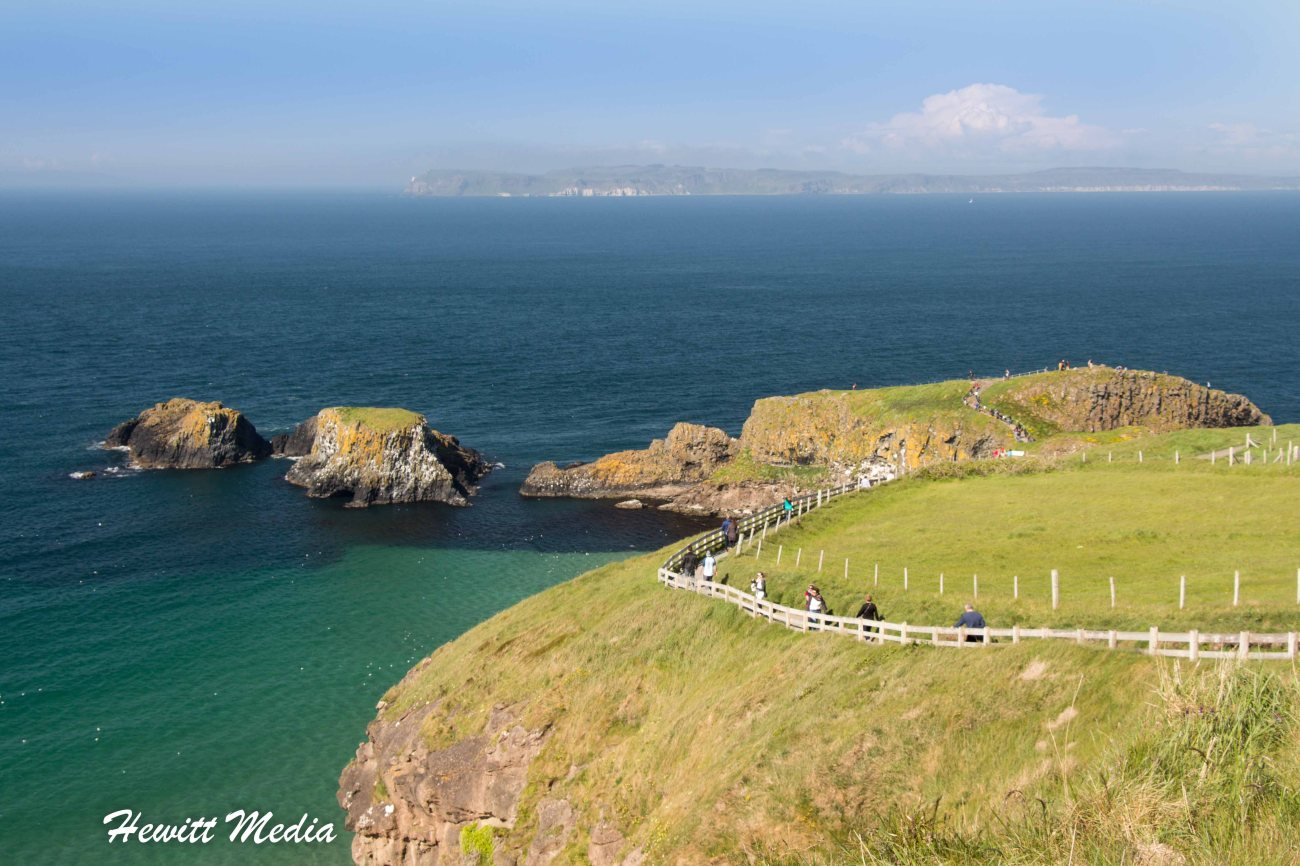 The Carrick-a-Rede Rope Bridge in Northern Ireland