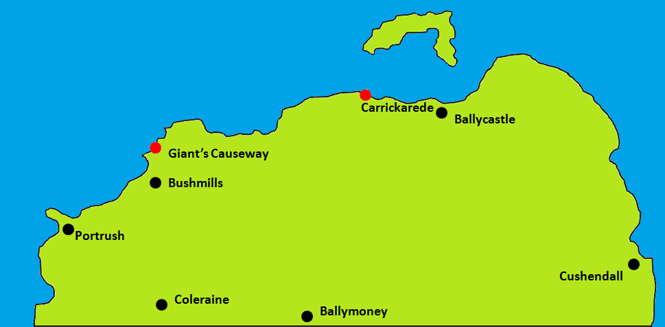 Carrickarede Map