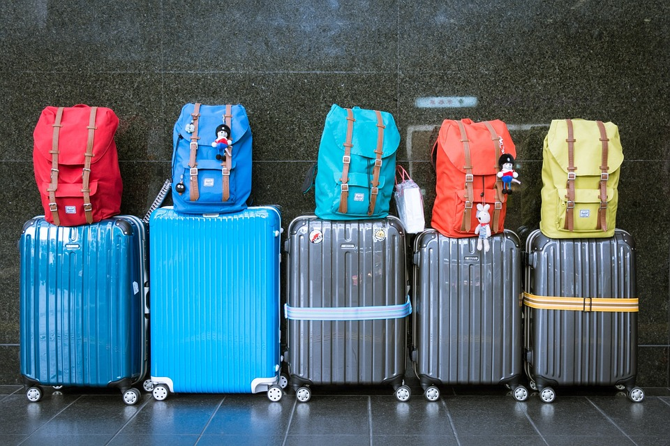 Baggage Luggage Suitcases Journey Vacation Bags