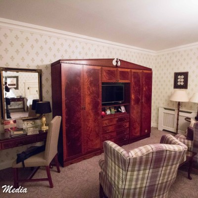 A room in the Dromoland Castle Hotel