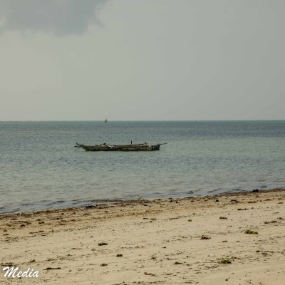 A fishing boat off of Paje Beach