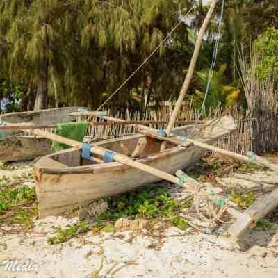 A Catamaran boat near Paje Beach