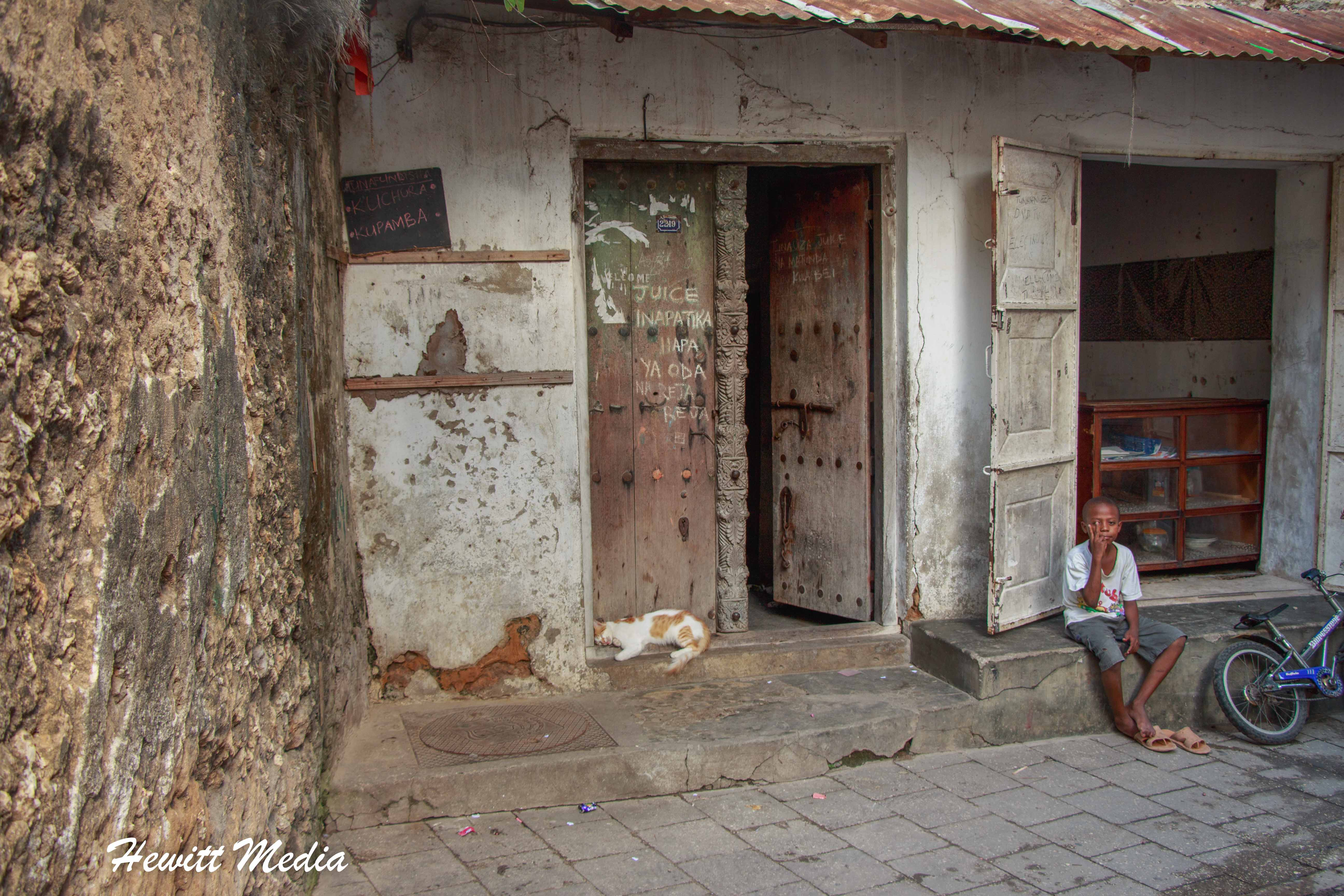 The streets of downtown Stone Town