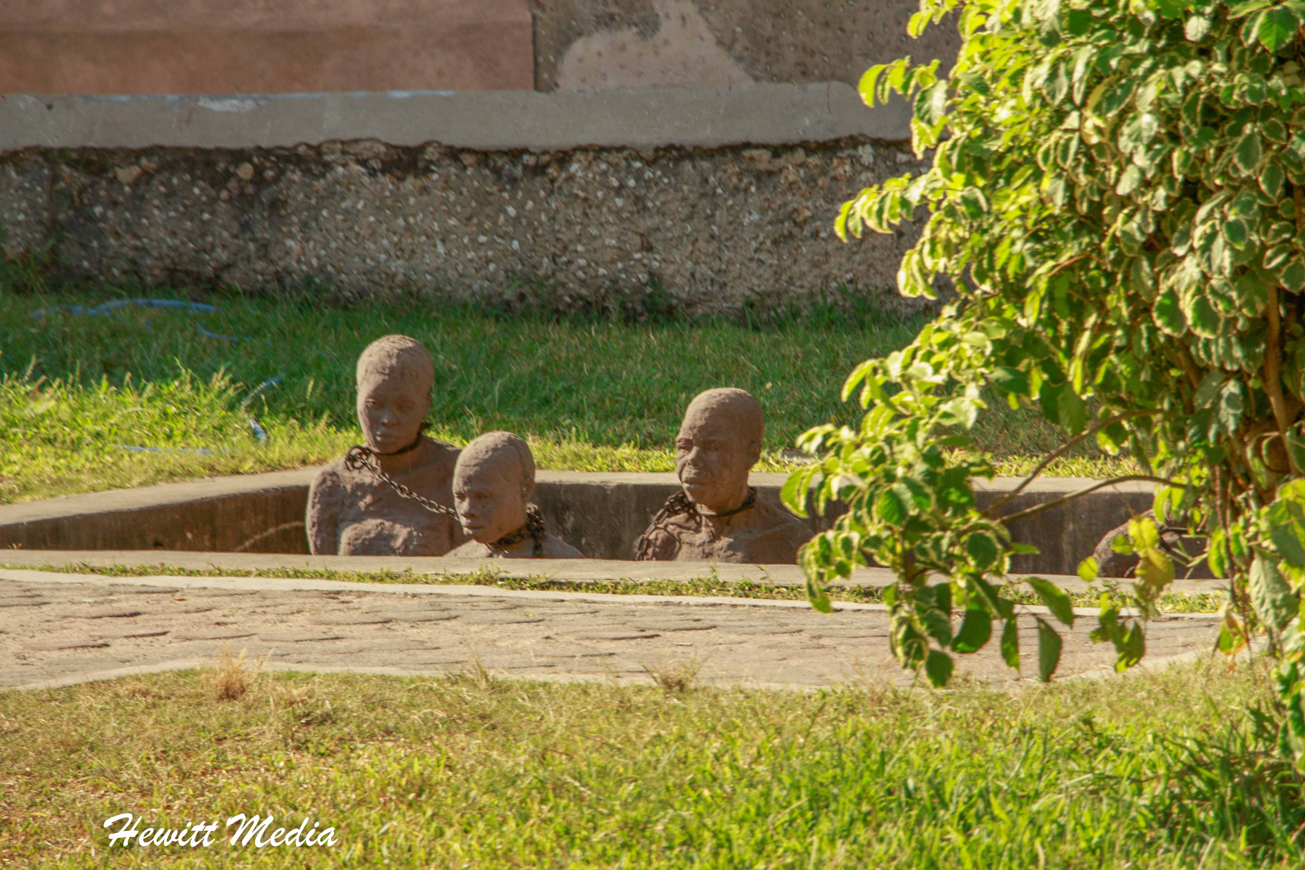 Monument at the old slave market in Stone Town