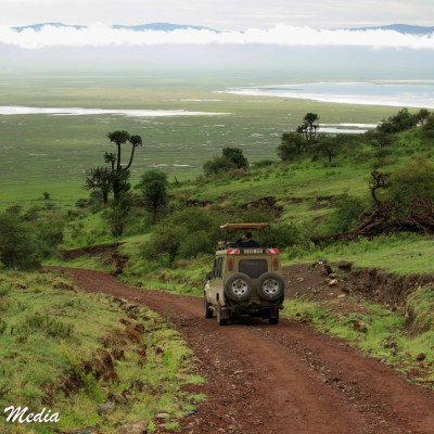 Descending into the Ngorongoro Crater