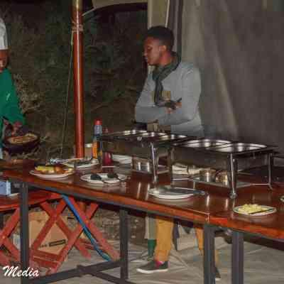Preparing food in the Serengeti National Park