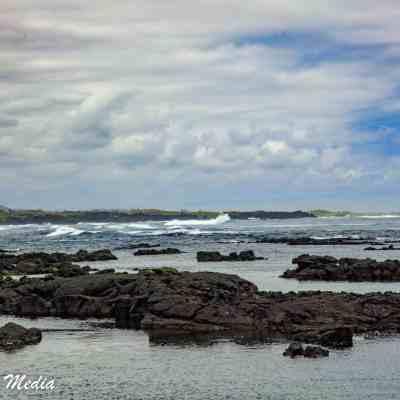 Shorline on Isabela Island.