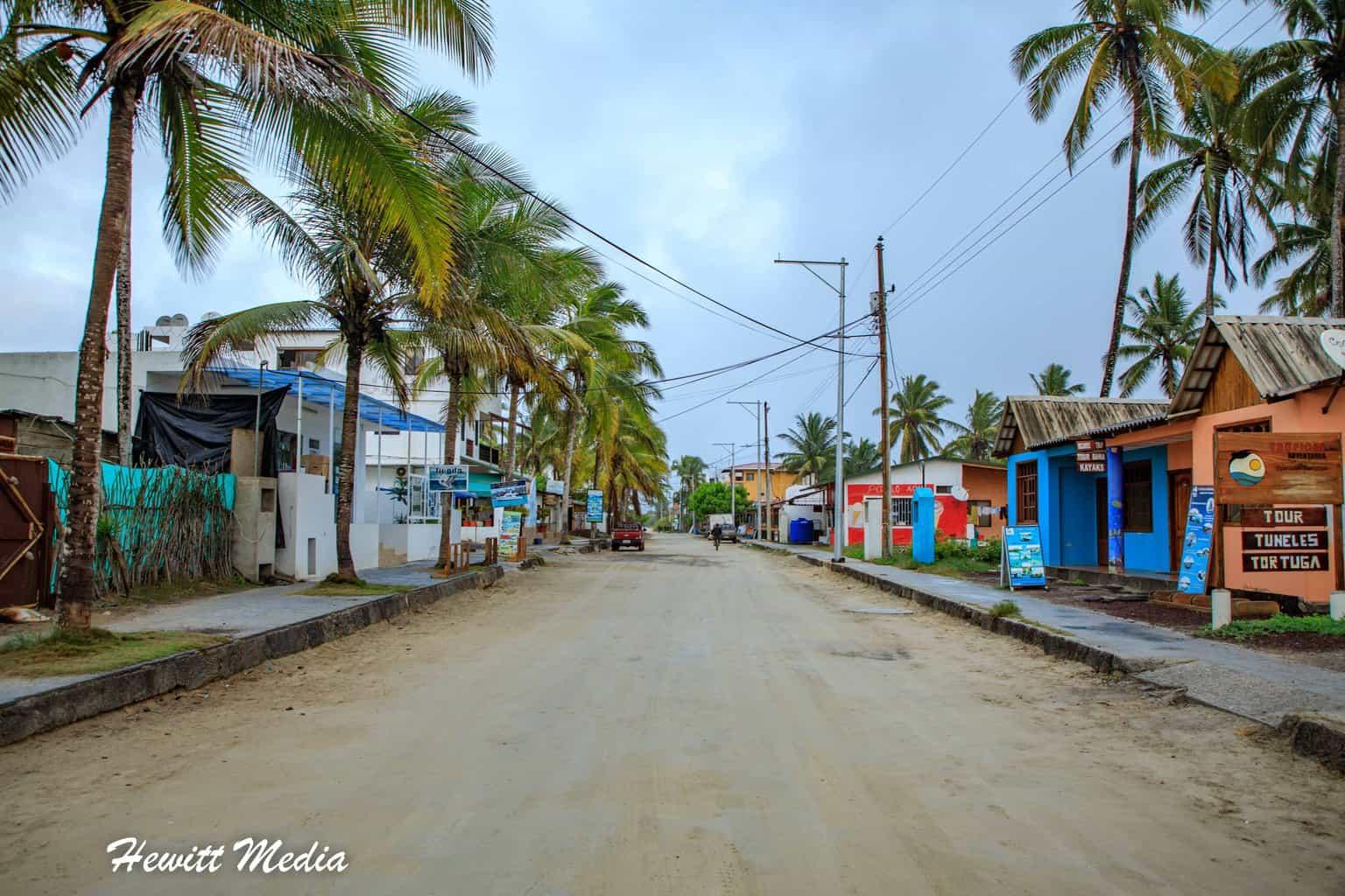 Puerto Villamil on Isabela Island.