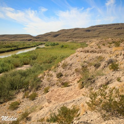 View of the Rio Grande River inside Big Bend National Park