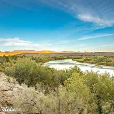 The Rio Grande River near Santa Elena Canyon