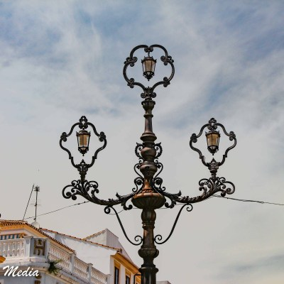 Beautiful lamp post in Ronda, Spain