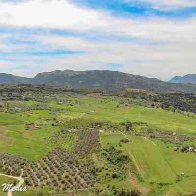 View ofAlameda del Tajo in Ronda, Spain