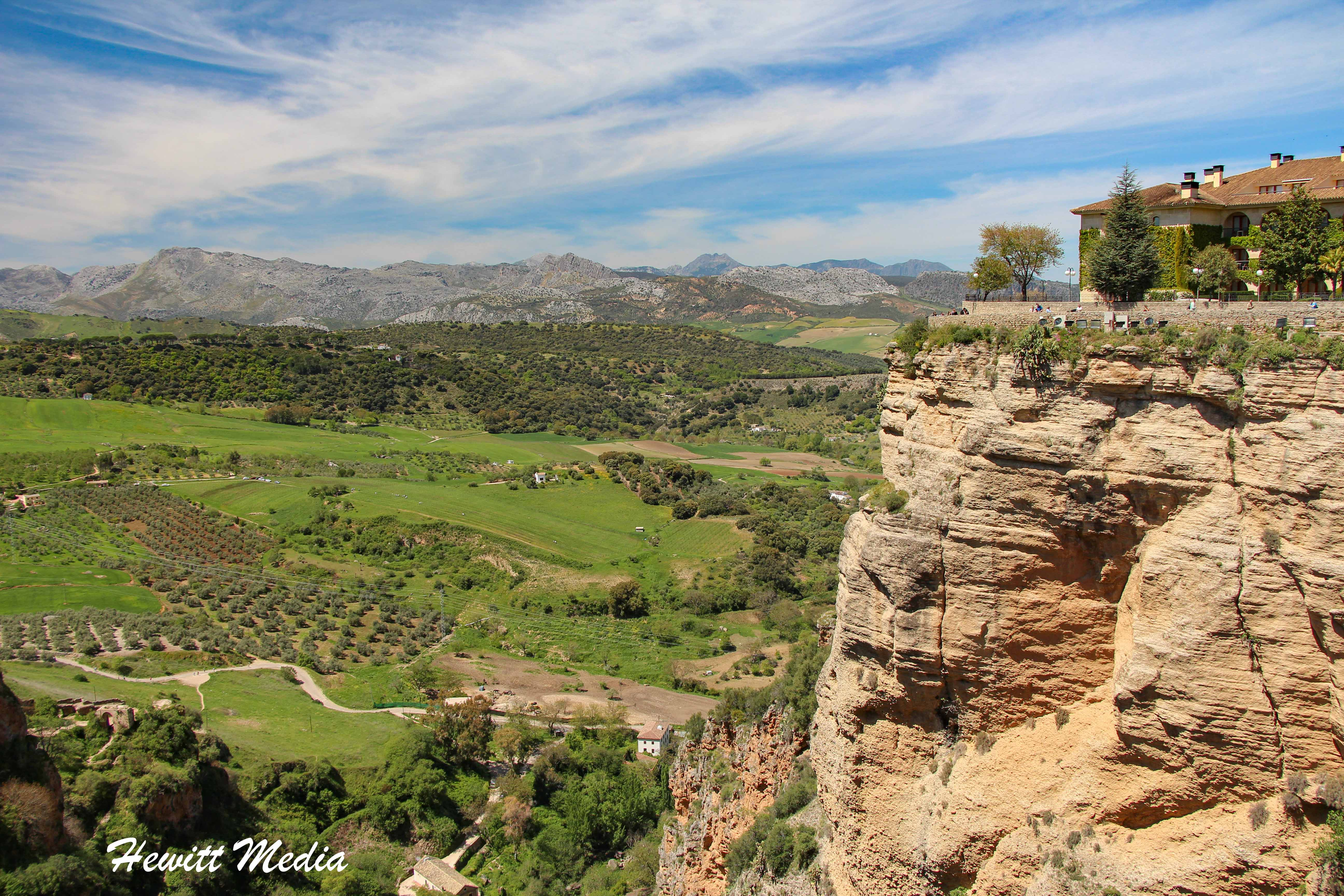 View from Alameda del Tajo in Ronda, Spain