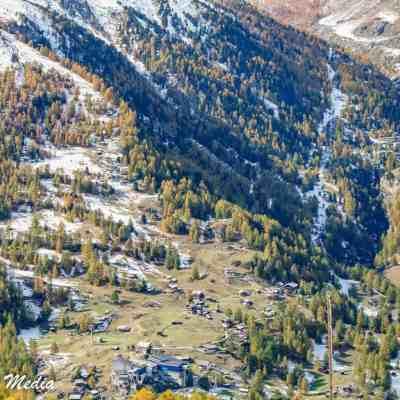 Hiking from Riffelberg back to Zermatt Village