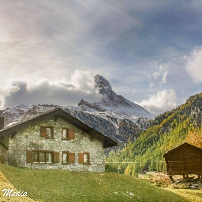 House with Matterhorn in Background