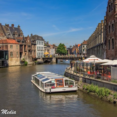 Boat rides on the canals of Ghent