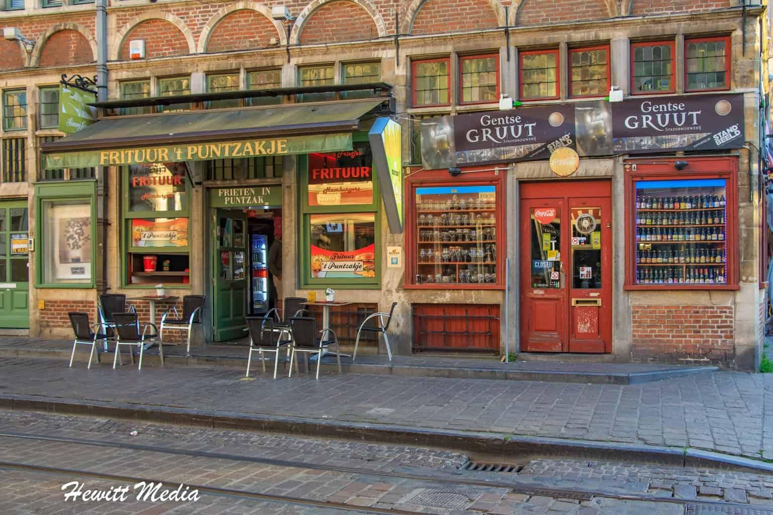 Shops in Ghent, Belgium
