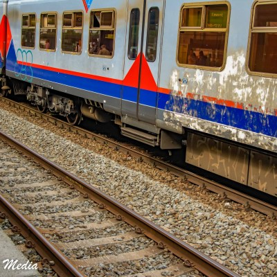 Train arriving in Ghent